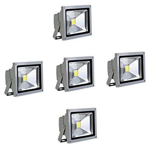 SAILUN 5X10W Blanco cálido luz Foco Proyector LED Blanco cálido foco exterior...