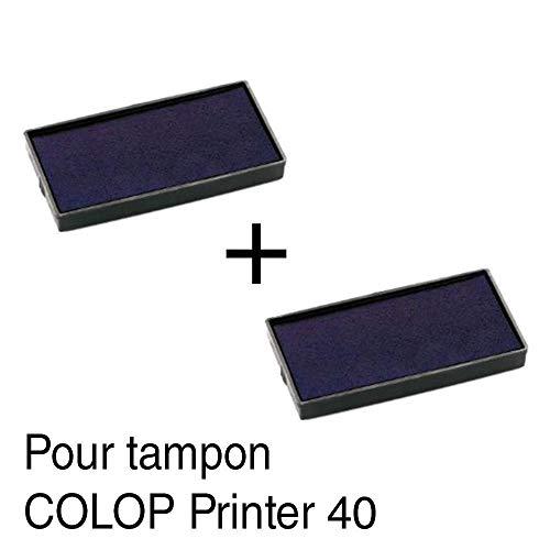 2Cassette di inchiostro ricarica per timbro Colop Printer 4059x 23mm-Nero