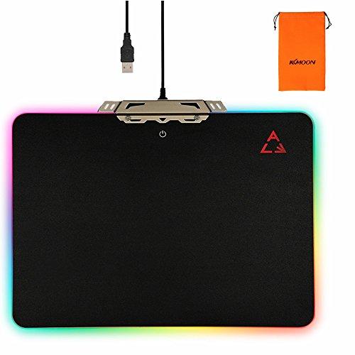 KKmoon 35*25cm LED Rétro-Eclairage USB Tapis de Souris Tapis Gaming Pad Professionnel