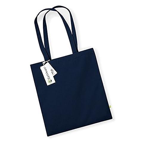 Westford (Mill Earthaware Bio Sac pour la vie 67cm Longueur du manche Premium épais Tissu, Coton, bleu marine, Taille unique