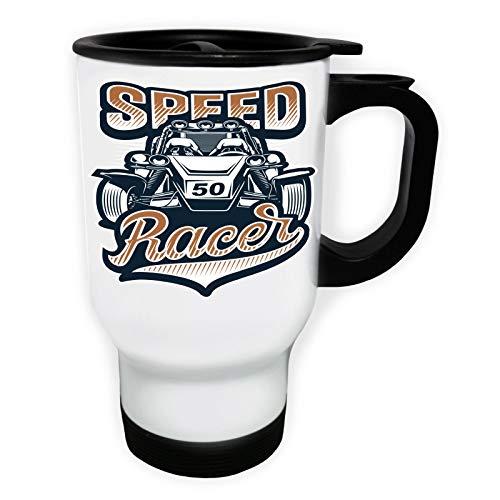 Speed Racer 50 Car Weiß Thermischer Reisebecher 14oz 400ml Becher Tasse ff822tw (Speed Racer-becher)