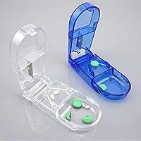 Saiko Tablettenschneider, Tablettenschneider, Tablettenzerkleinerer mit Aufbewahrungsbox, 2 Stück preisvergleich bei billige-tabletten.eu