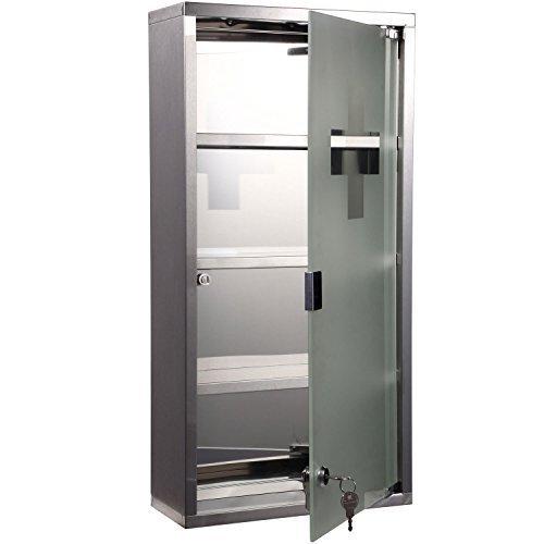 homcom-armadietto-medicinale-cassetta-porta-medicina-a-quattro-ripiani-in-acciaio-inox-30-x-12-x-60c
