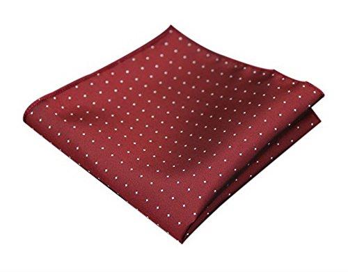 Preisvergleich Produktbild Mens Serviette Wein rot Polka Dots Einstecktuch Taschentuch Mode Geschenk Box Groß