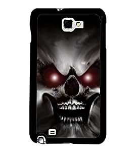 PrintVisa Angry Skull Warrior High Gloss Designer Back Case Cover for Samsung Galaxy Note 2 :: Samsung Galaxy Note II N7100