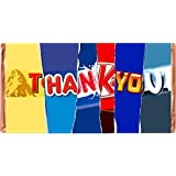 Thank You Chocolate Bar Wrapped with Novelty Joke Wrappers Insults Mothers Day Love Gift Present Rude Funny (Chocolate BAR In