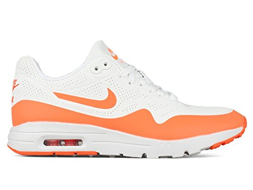 Nike - WMNS Air Max 1 Ultra Moire, Scarpe sportive Donna Blanco (Summit White / Total Crimson)