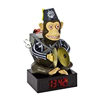 Paladone Call of Duty Bomb Novelty Animated Digital Clock | Monkey Will Clap Cymbals When Alarm Sounds | USB Or Battery Powered