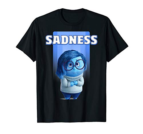Inside Out Damen T-shirt (Disney Pixar Inside Out Sadness Graphic T-Shirt)