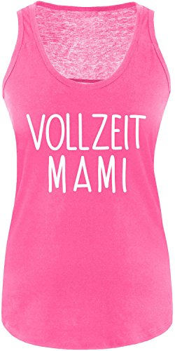 EZYshirt® Vollzeit Mami Damen Tanktop Fuchsia/Weiss