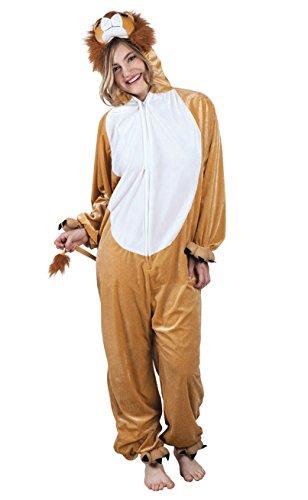 Boland 88020 Erwachsenenkostüm Löwe aus Plüsch, M/L (Löwe Kostüm Make Up)