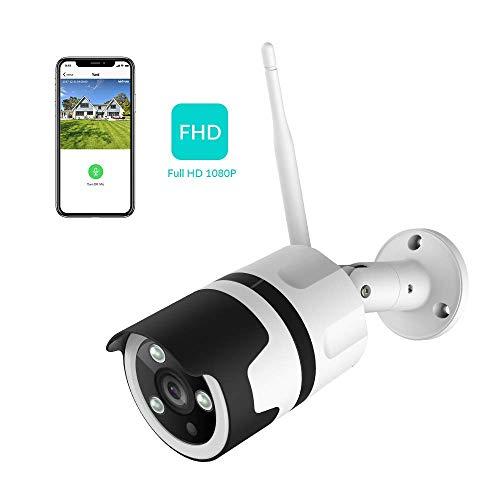 NETVUE 1080P Überwachungskamera Outdoor Wlan Kamera IP66 wasserdicht Überwachungskamera Aussen Wlan Außenkamera mit Bewegungsmelder, Nachtsicht, 2-Wege-Audio, Cloud-Speicher, LAN & WLAN Verbindung