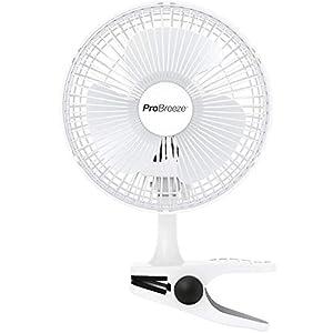Pro BreezeTM Mini Ventilator mit Clip | 15 cm Durchmesser, 2 Geschwindigkeitsstufen, starke + stabile Klammer | Ideal als Tischventilator im Büro am Schreibtisch oder Zuhause im Schlafzimmer