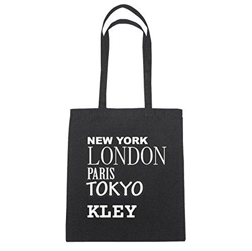 JOllify Kley di cotone felpato B475 schwarz: New York, London, Paris, Tokyo schwarz: New York, London, Paris, Tokyo