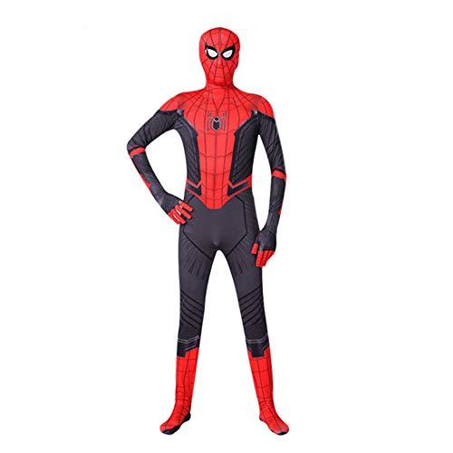 QAZ Erwachsene Kinder Spider-Man Halloween Kostüm Overall 3D Print Spandex Lycra Spiderman - Cosplay Body Spiderman Costume,150cm