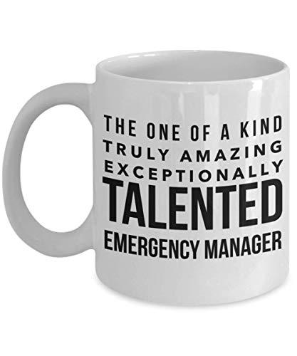 Dozili Lustige Kaffeetasse – Notfall-Manager-Geschenke – One of a Kind Truly Amazing Außergewöhnlich talentierte Tasse, Neuheit Geschenk Ideen, 325 ml, weiß