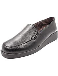 Zapato Mujer en Polipiel de la Marca DOCTOR CUTILLAS, con Elasticos, cuña 4cm -