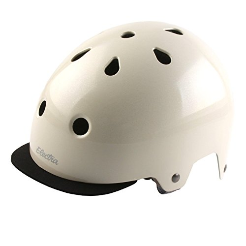 (Electra Bicycle Electra Fahrrad Helm Solid Color Serie Fidlock ABS Innenpolster waschbar, EHelmetSC, Farbe Cream Sparkle, Größe S)