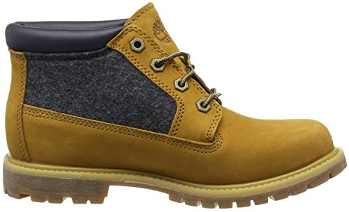Timberland Nellie_nellie Double F/L, Stivali Chukka Donna Marrone (Wheat Nubuck with Blue FeltWheat Nubuck with Blue Felt)