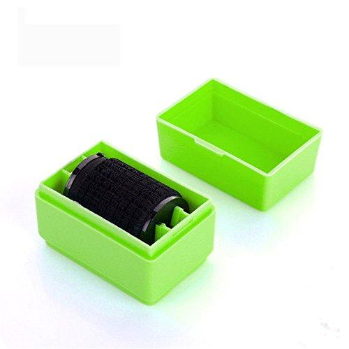 Minkoll Roller Stamps Guard Ihre ID Mini Roller perfekt für Stempel Privatsphäre (grün) (Sicherheit Stempel-roller)