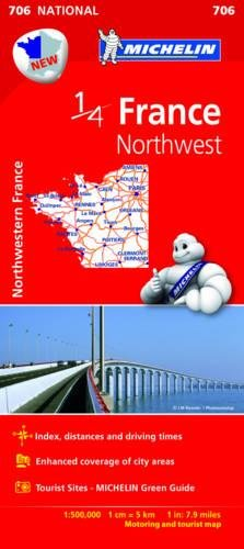Mapa. France Northwest 11706 (15) (Mapas National Michelin) por Vv.Aa