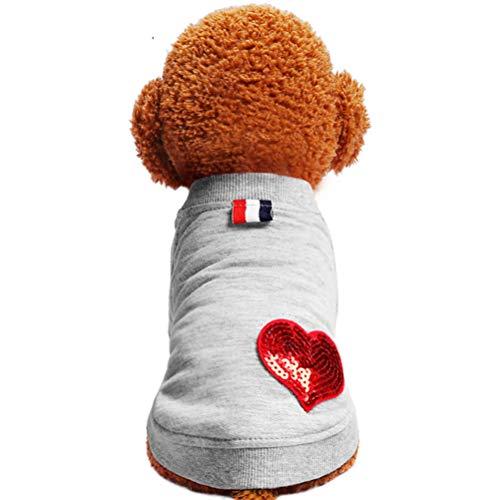 Alaskan Malamute Sweatshirt (ENCOCO Hundeweste, Sweatshirt für den Winter, warm, für Kleine und mittelgroße Hunde, grau, XL)