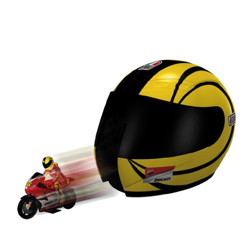 Mondo Motors - 66067 - Véhicule Miniature - Helmet Launcher Ducati + 1 Moto