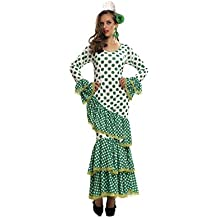 My Other Me - Disfraz de Flamenca, talla M-L, color verde (Viving Costumes MOM01114)