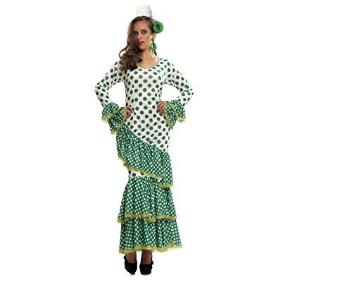 Imagen de my other me  disfraz de flamenca, talla m l, color verde viving costumes mom01114