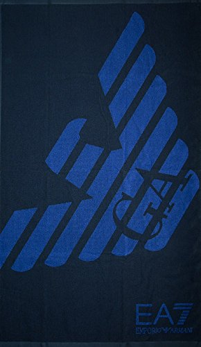 Emporio armani asciugamano telo mare blu 904004-8p787-06935
