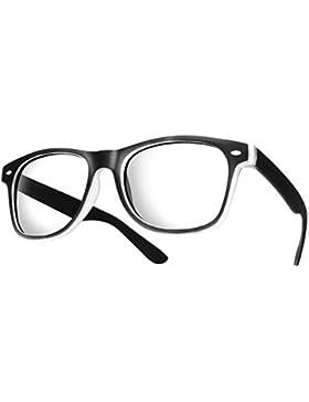 Morefaz Gafas estilo vintage, unisex, cristales siempre limpios