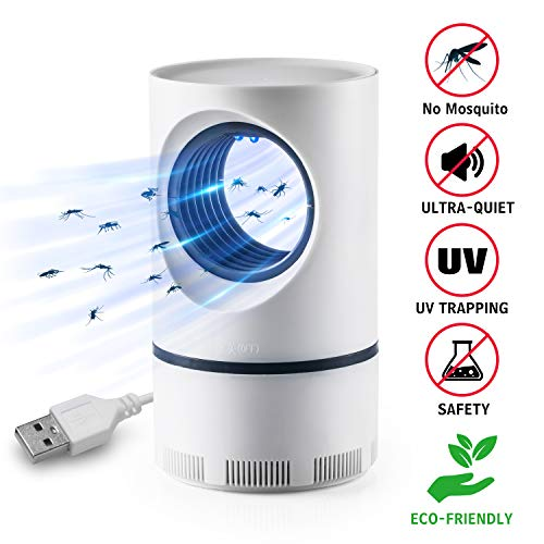 Lámpara Antimosquitos, USB Asesino de Mosquito, Luz Ultravioleta USB LED, Lámpara de Asesino del Mosquito al Aire Libre Portátil, No Tóxicos, Sin Radiación, Sin Productos Químicos