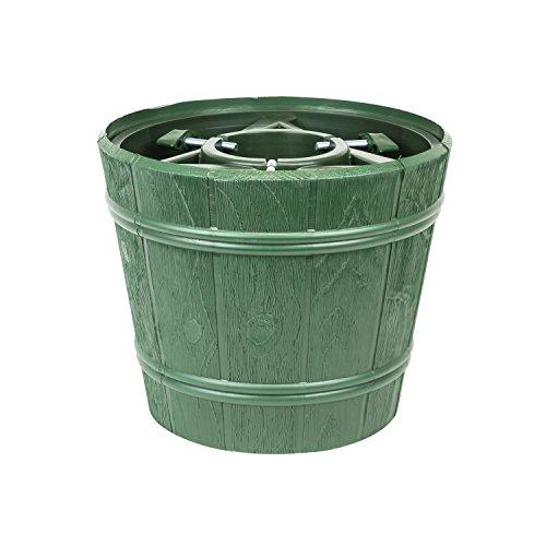 Christbaumständer Kunststoff D 30 cm grün Holzdekor Weihnachtsbaumständer