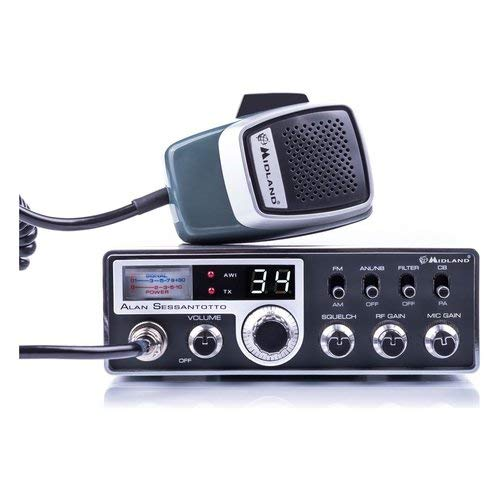 474d18ca7 Midland Alan SESSANTOTTO CB Radio, Nero/Argento
