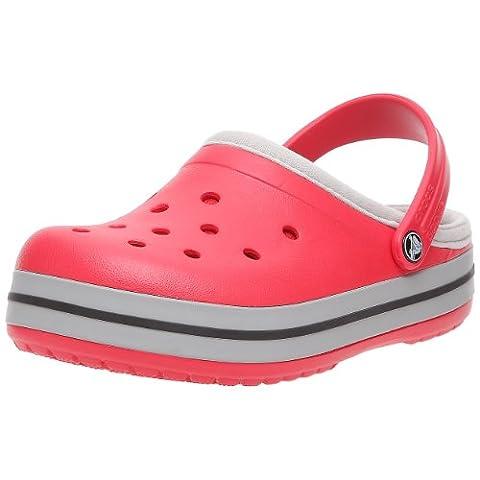Crocs Crocband Lined, Unisex-Erwachsene Stiefel, Rot (red/silver), 36/37 EU