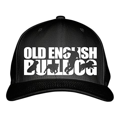 SIVIWONDER CAP - OEB OLD ENGLISH BULLDOG Olde English Bulldogge USA -HUNDESPORT HS - Baumwoll 6-Panel schwarz -