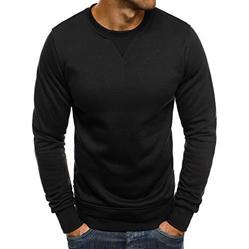 (Zegeey Herren Herbst Winter warm Volltonfarbe Mode Oansatz Beiläufiges festes Sweatshirt übersteigt Bluse)