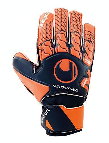 uhlsport Torwarthandschuhe NEXT LEVEL -Soft SF Junior - In den Größen 4-15 Innenhand fluo rot, Keeper-Handschuhe entwickelt mit Profis - Optimaler Halt und Grip, in Kindergrößen verfügbar, Marine, 7,5