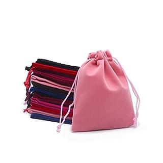 Alamor 10 Stücke Schmuck Tasche Samt Schmuck Jade Schmuck Lagerung Kleine Tasche Bundle Taschen Kordelzug Verpackung Geschenk Tasche Zufällige Farbe - 7 * 9 cm