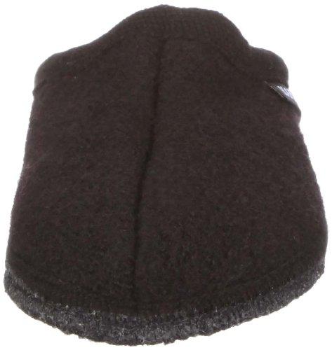 Haflinger Alaska 611001 Unisex - Erwachsene Klassiche Hausschuhe Schwarz (Schwarz 03)