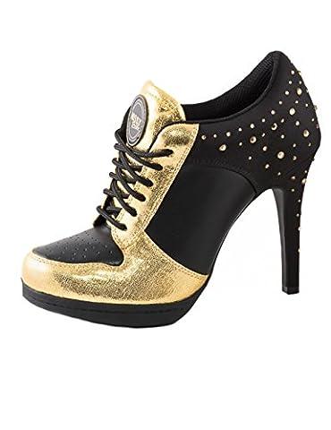 Sport High Heels SPARKLING GOLD black/gold, Größe:41, Farbe:black/gold (Black Satin High Heel Pumps)