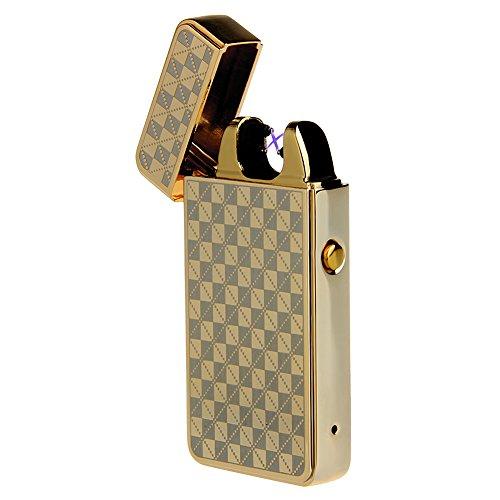 Elektronisches Feuerzeug Gitter Feuerzeug tragbar USB aufladbar dopple Lichtbogen tragbar Kivors&reg