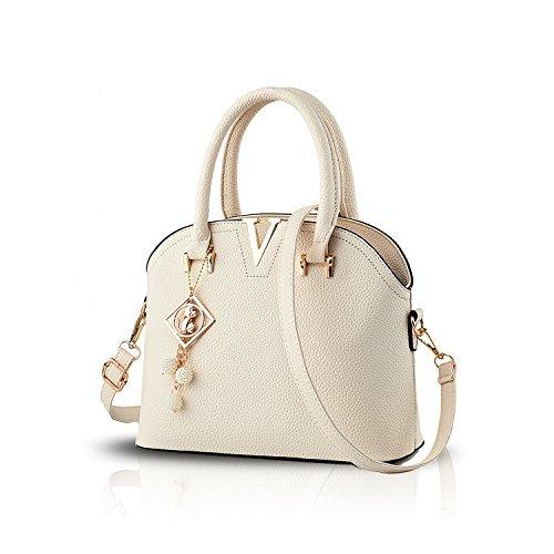 Tisdaini Nouveau sac à main femme sac à bandoulière sac à main sac à main portefeuille avec petit pendentif bianca