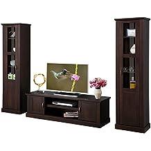 Wohnwand Wohnzimmer Set TV Schrank Vitrine Landhausstil Kiefer Massiv Nice Design