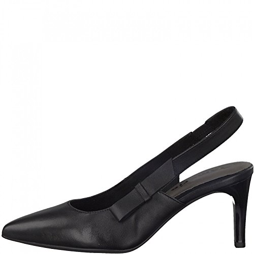 Tamaris Damen Sling Pumps 1-29608-20 Leder Stiletto, Schuhgröße:40;Farbe:Schwarz