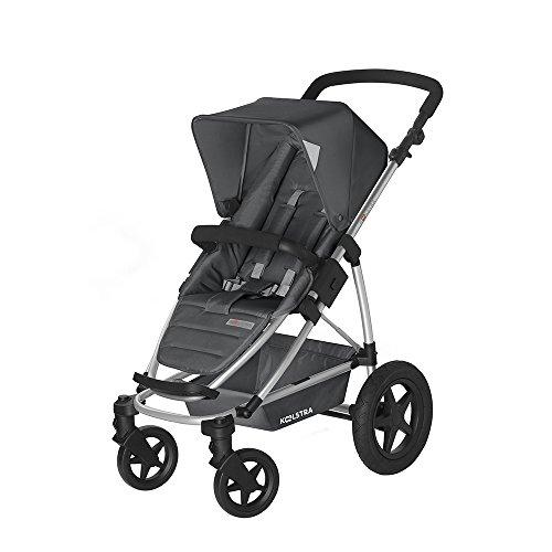 Koelstra 7013582 Aluminium Kinderwagen, Textil grau