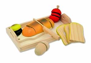 Tanner 0901.9 Cocina y Comida Estuche de Juego Juego de rol - Juegos de rol (Cocina y Comida, Estuche de Juego, Niño, Niño/niña,, Madera)