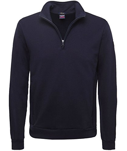 Paul and Shark Herren Cotton Half-Zip sweatshirt Marine XL