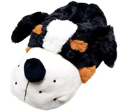 gibra® Lustige Hunde Tierhausschuhe Hausschuhe Plüschhausschuhe für Damen und Herren, Art. 2426, Gr. 43/44