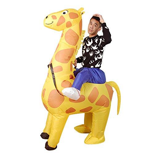 Erwachsene Kinder Giraffe Aufblasbare Fun Kostüm Blow Up Karneval Halloween Party Kostüm,150-190cm